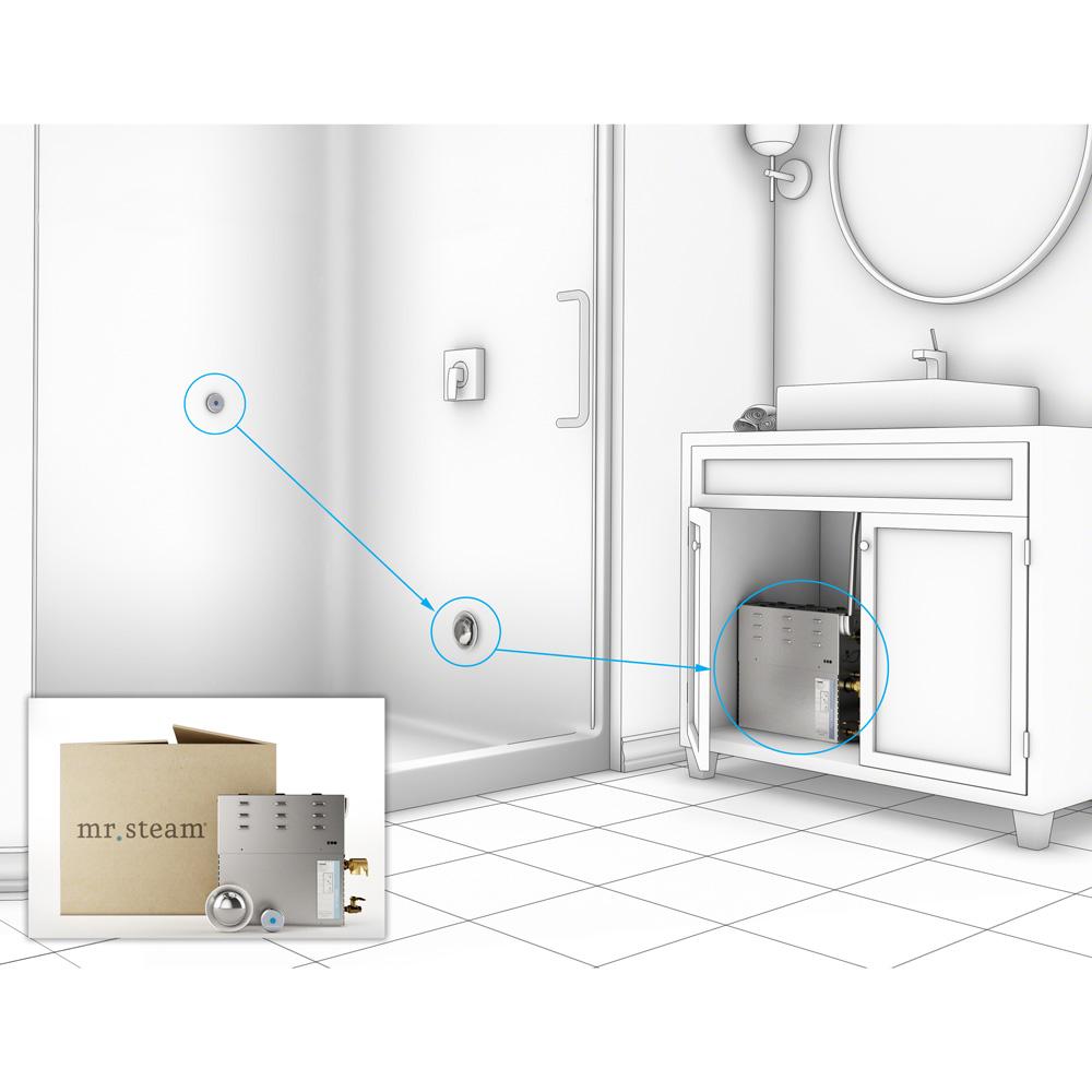Bathroom steam generator