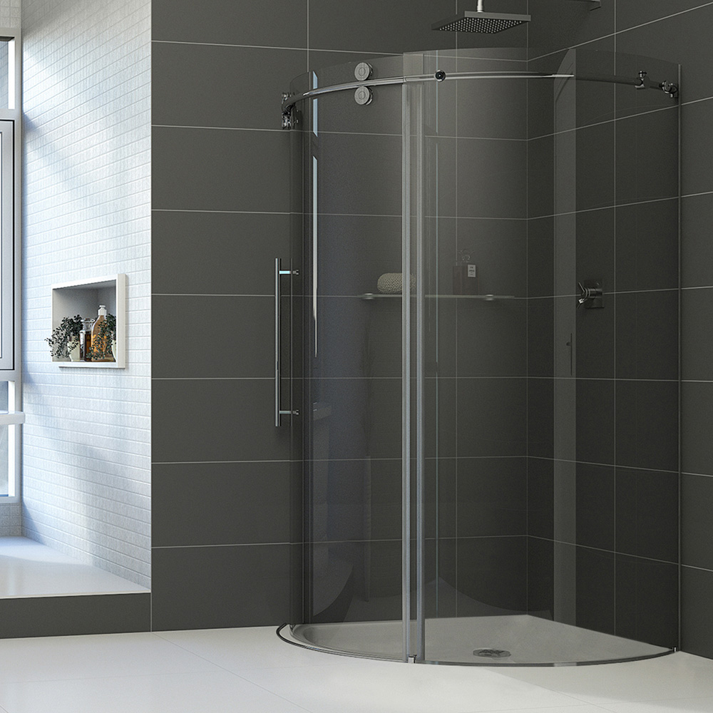 Vigo Industries Frameless Round Shower Enclosure 36 Quot X