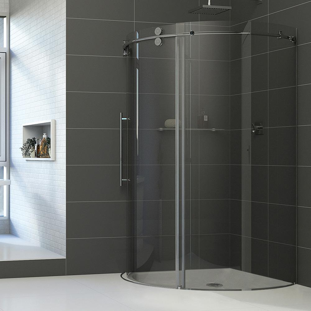Vigo Industries Frameless Round Shower Enclosure 36 Quot X