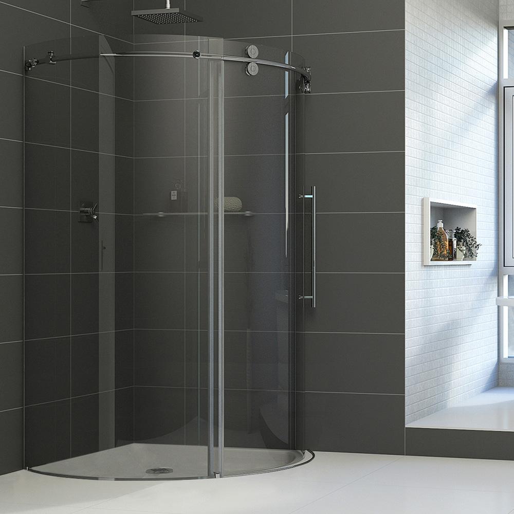 Vigo Industries Frameless Round Shower Enclosure 36 Quot X 36 Quot Free