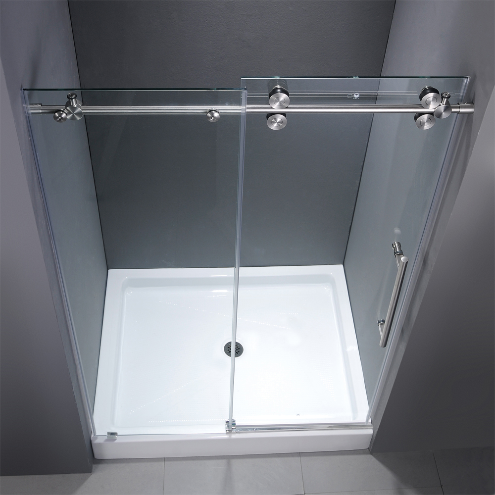 Vigo 60 Inch Frameless Shower Door 38 Clearchrome Hardware With