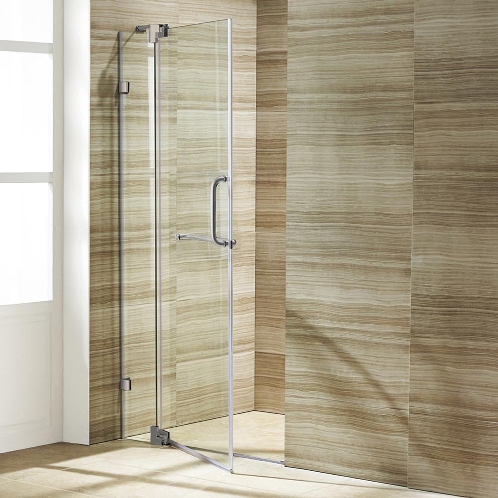 Vigo 42 Inch Frameless Shower Door 3 8 Quot Clear Glass Free