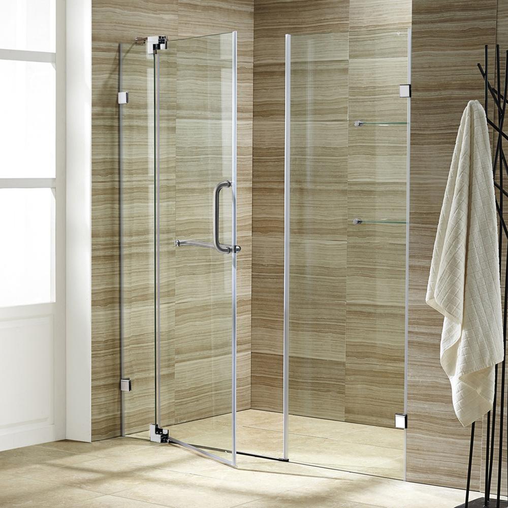 Vigo 66 Inch Frameless Shower Door 3 8 Quot Clear Glass Free