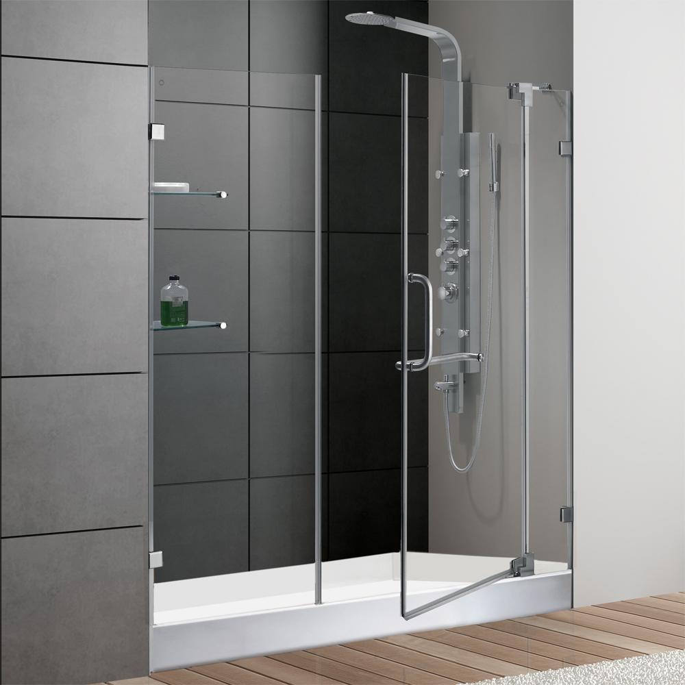 Vigo 60 Inch Frameless Shower Door 3 8 Quot Clear Glass Chrome