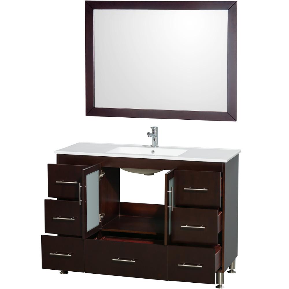 "Cabinets Katy: Katy 48"" Single Bathroom Vanity Set By Wyndham Collection"