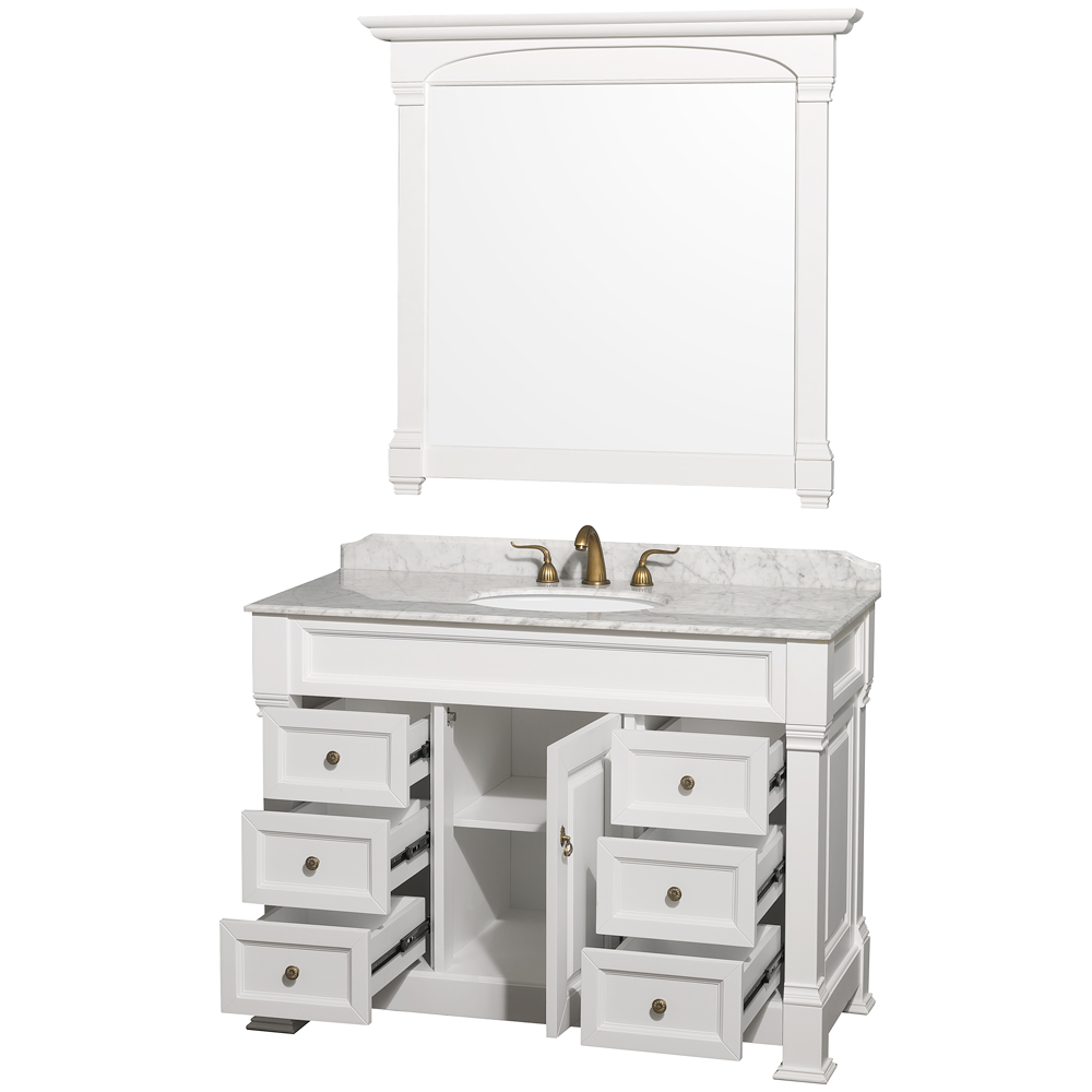 Andover 48 traditional bathroom vanity set by wyndham - Menards bathroom vanities 48 inches ...