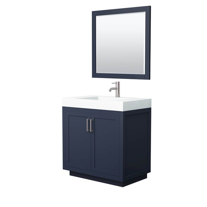 "Miranda 36"" Single Vanity with Integrated Sink - Dark Blue WC-2929-36-SGL-VAN-BLU_"