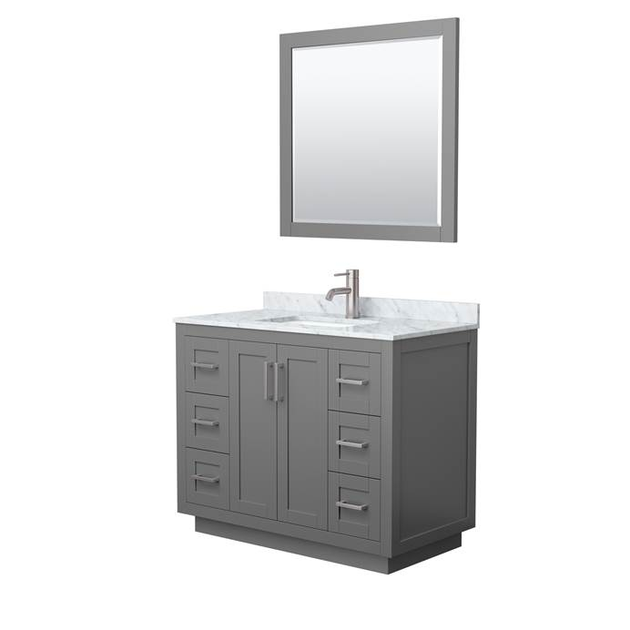 "Maroni 72"" Double Vanity with Carrara Marble Counter - Dark Blue WC-2929-72-DBL-VAN-BLU-TEST1"
