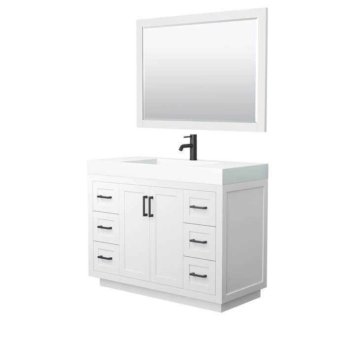 "Davia 48"" Single Vanity with Integrated Sink - White WC-2929-48-SGL-VAN-WHT_"