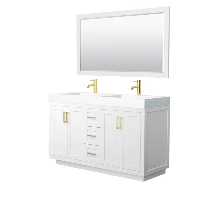 "Davia 60"" Double Vanity with Integrated Sink - White WC-2929-60-DBL-VAN-WHT_"