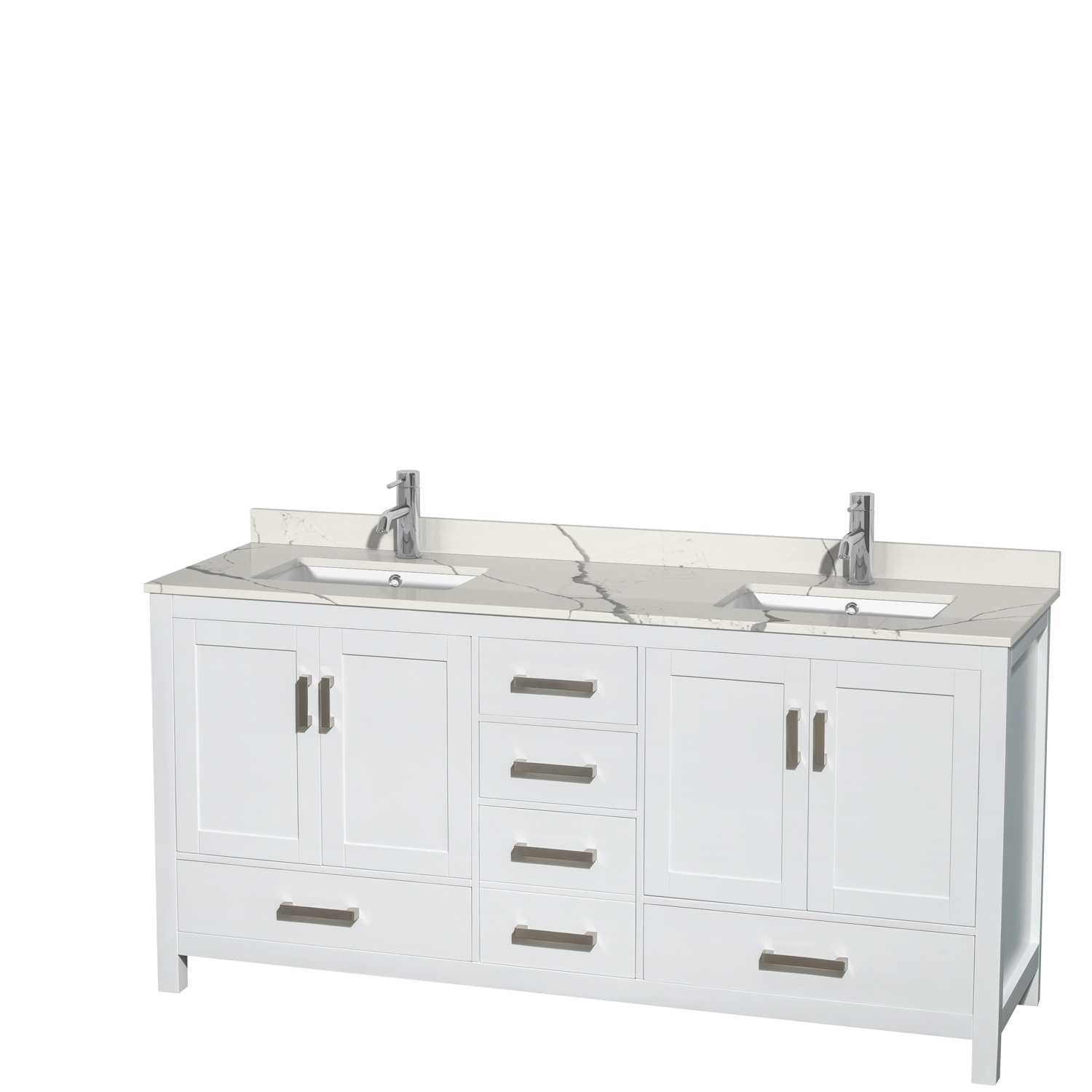 Sheffield 72 Double Bathroom Vanity By Wyndham Collection White Free Shipping Modern Bathroom