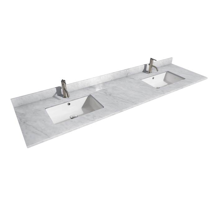 "24"" Single Countertop - Dark-Vein Carrara Cultured Marble with Undermount Square Sink - Include Backsplash and Sidesplash WC-VCA-24-SGL-TOP-UMSQ-CC1"