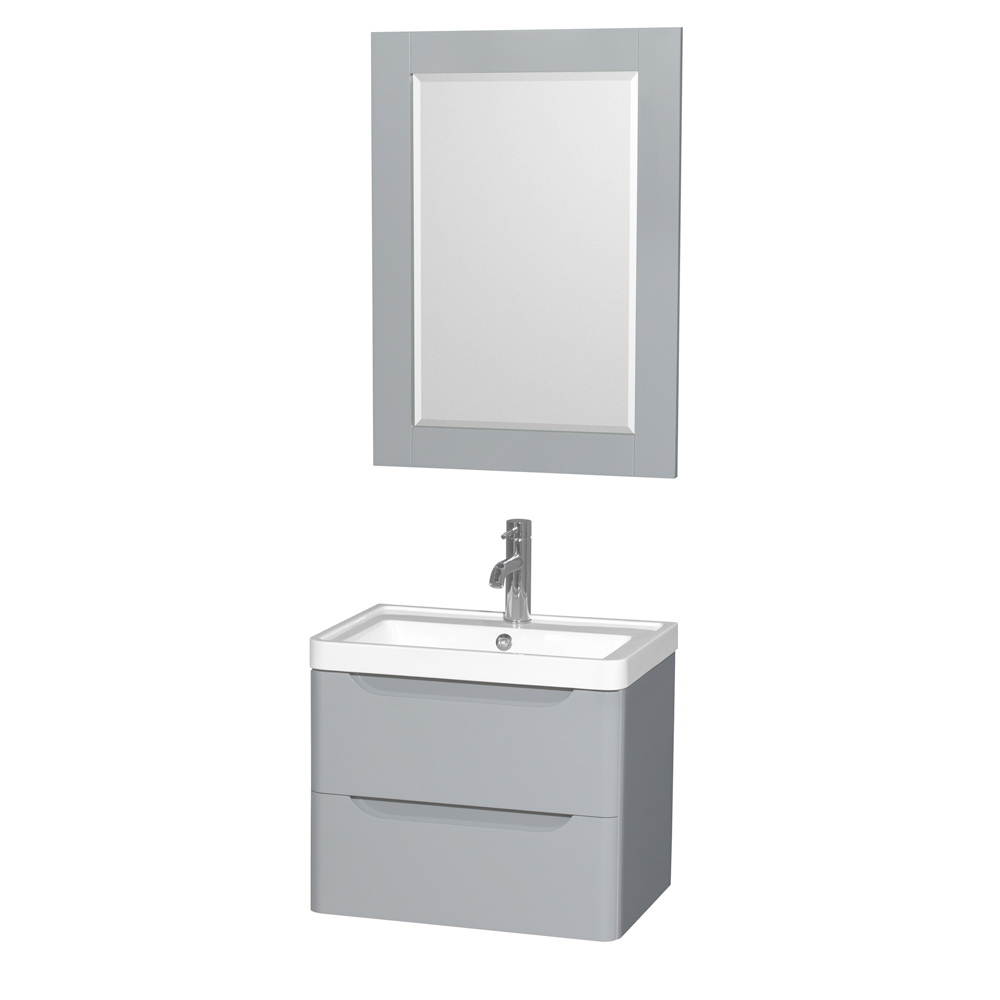 Murano 24 Quot Wall Mounted Bathroom Vanity Set With