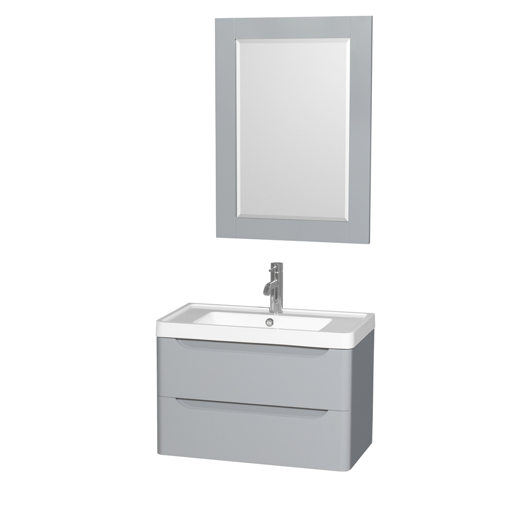 Murano 30 Wall Mounted Bathroom Vanity Set With