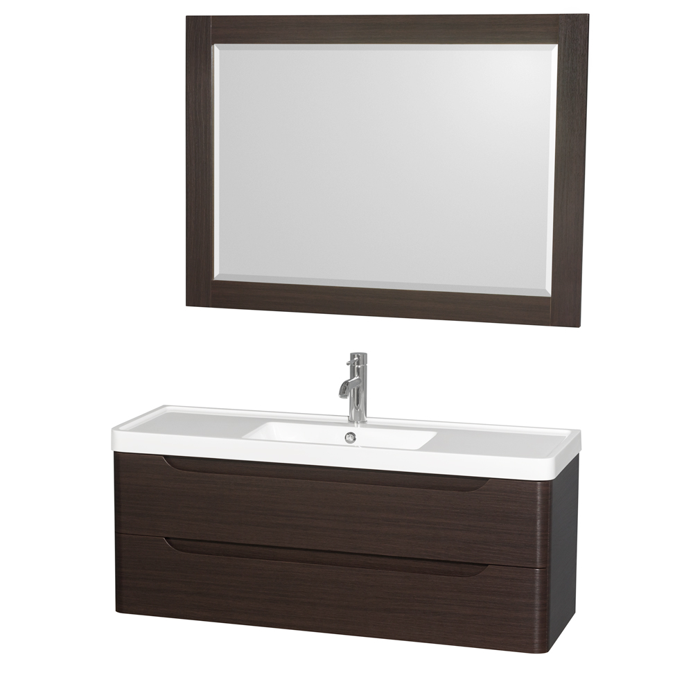 "Wyndham Bathroom Vanities: Murano 48"" Wall-Mounted Bathroom Vanity Set With"